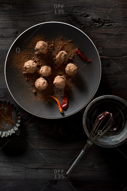 Chili Chocolate Truffles