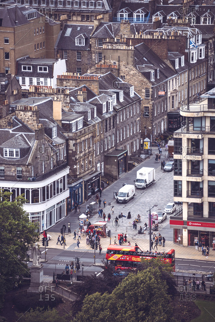 Edinburgh, Scotland - August 27, 2017: Picturesque view of the city