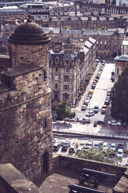 Picturesque view of Edinburgh, Scotland