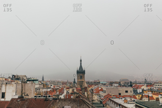 Cityscape in moody weather