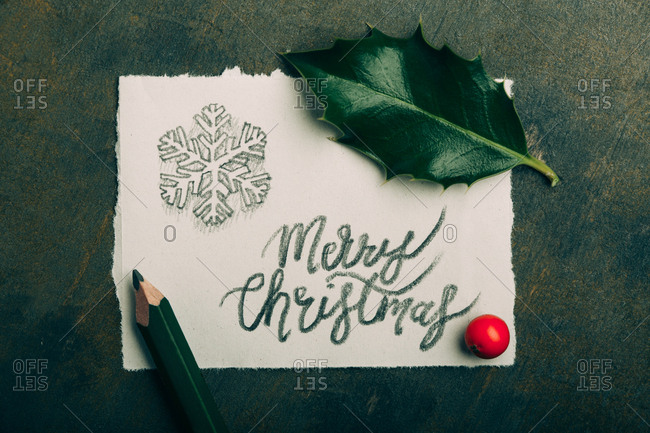 Hand written Christmas card
