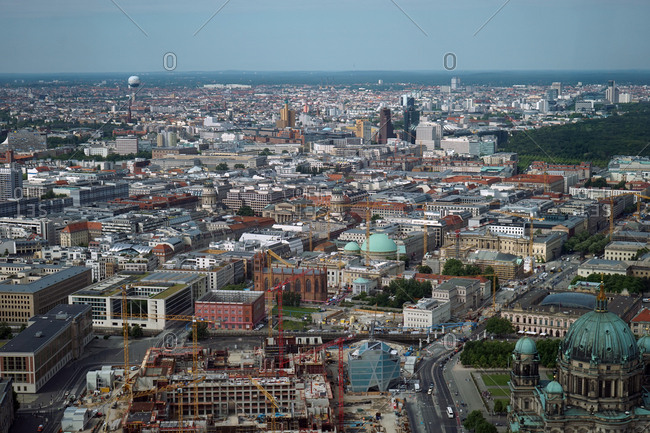 Berlin, Germany, Europe - June 4, 2014: Aerial view of the city