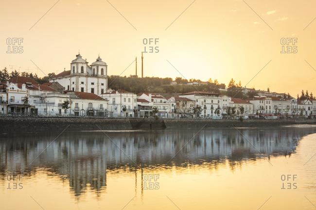 Alentejo, Portugal, Europe - June 20, 2017: Alcacer do Sal and the Sado River