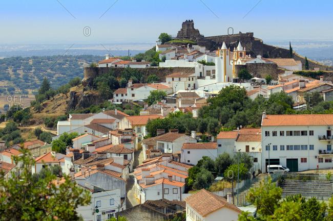 Portugal, Europe - June 22, 2017: Alegrete, a dramatic Portuguese medieval hill-top village near Portalegre in the Alentejo region bordering Spain