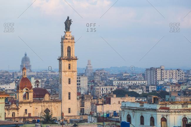 View of Havana looking towards Iglesia y Convento de Nuestra Senora del Carmen, Havana, Cuba, West Indies, Caribbean, Central America
