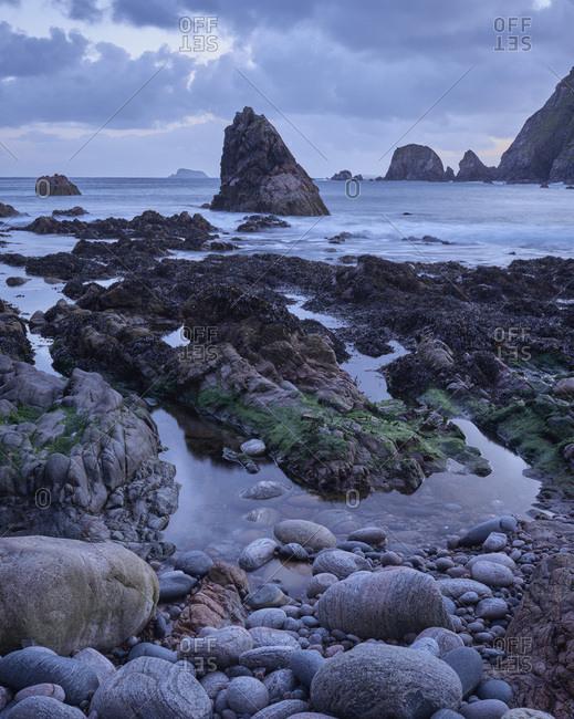 Daybreak, Aird Uig, Isle of Lewis, Outer Hebrides, Scotland, United Kingdom, Europe