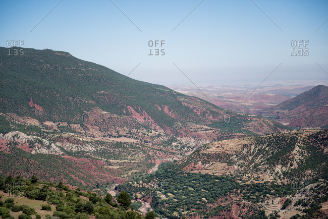 Vast hilly landscape in Morocco