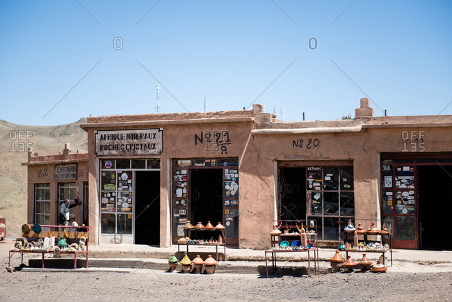Morocco - May 7, 2017: Storefront in small village in Morocco