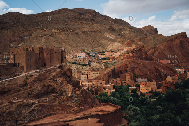 Village in Dades Valley, Morocco