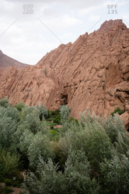 Textured mountainside in Dades Valley, Morocco