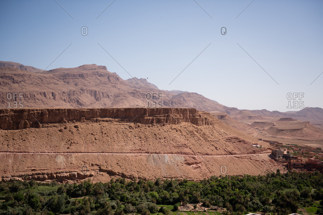 The Atlas mountains and Todra valley in Morocco