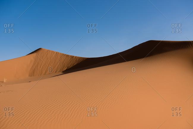 Saharan Erg Chebbi in Merzouga, Morocco