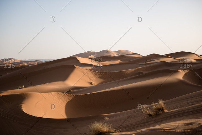 Erg Chebbi at sunrise in Merzouga, Morocco