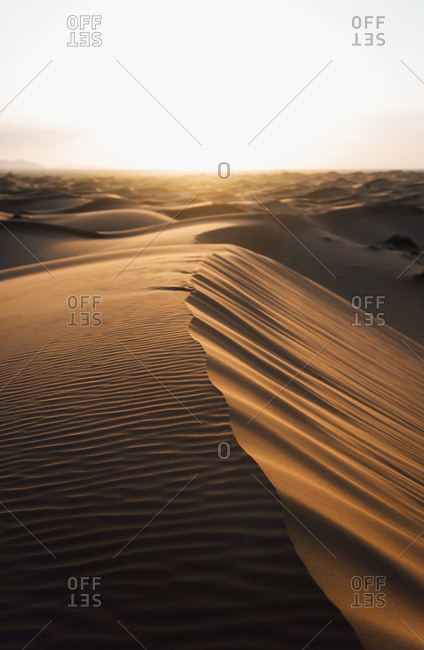 Erg Chebbi at sunset in Merzouga, Morocco