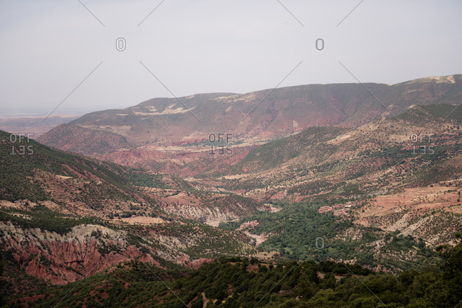 Mountain landscape in Morocco