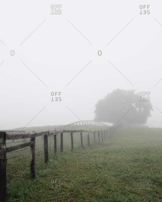 Foggy rural landscape, Hamptonburgh, New York