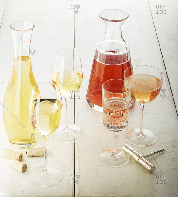 White and blush wine