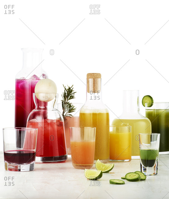 Colorful juice