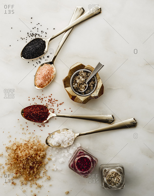 Variety of salt and seasonings