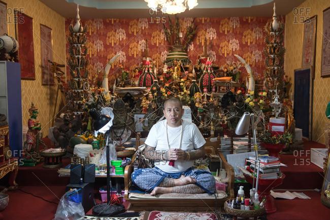 Chiang Mai, Thailand - November 16, 2017: Portrait of Sakyant Tattoo Master