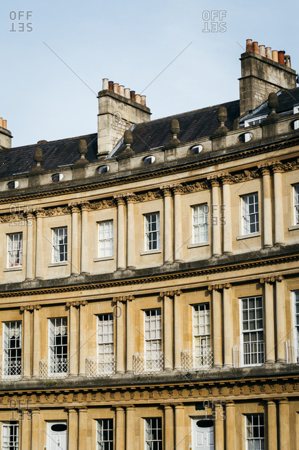 Exterior of residential building in Bath, England