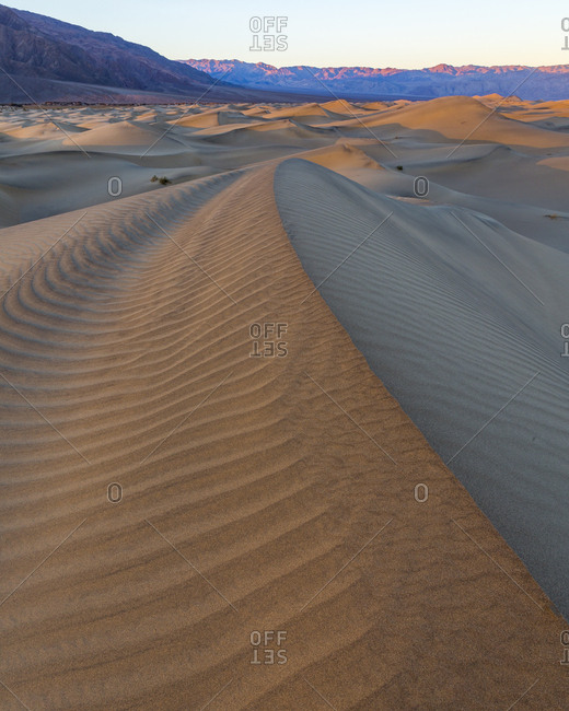Sunrise over the Mesquite Dunes in Death Valley National Park