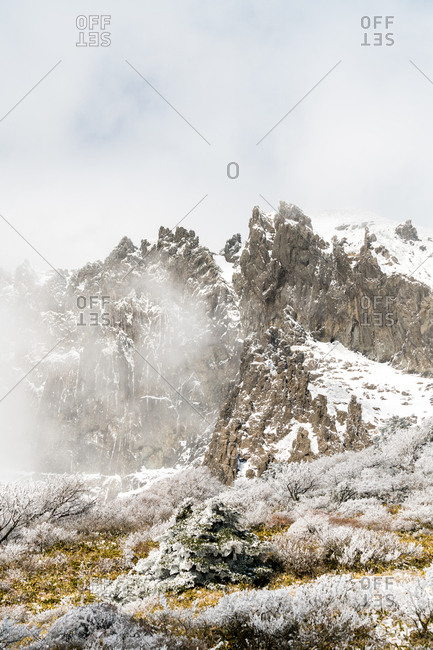 Craggy peaks of Hallasan on Jeju Island