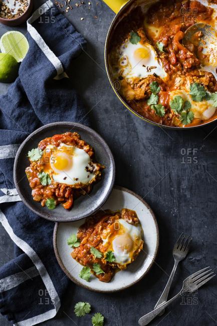 Coconut curry shakshuka