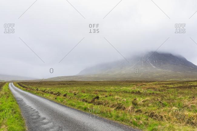 Great Britain- Scotland- Scottish Highlands- Glen Coe- Mountain Stob Dearg- road to Glen Etive