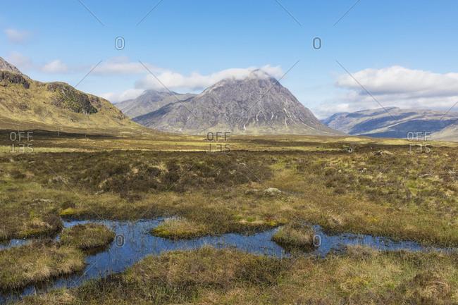 Great Britain- Scotland- Scottish Highlands- Glen Coe- mountain massif Buachaille Etive Mor- Mountain Stob Dearg