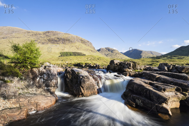 Great Britain- Scotland- Scottish Highlands- Glen Coe- Glen Etive- River Etive- River Etive Falls