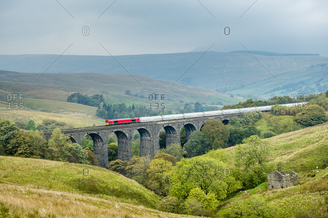 Great Britain- England- District Yorkshire Dales- Dent Head Viaduct- Settle Carlisle line
