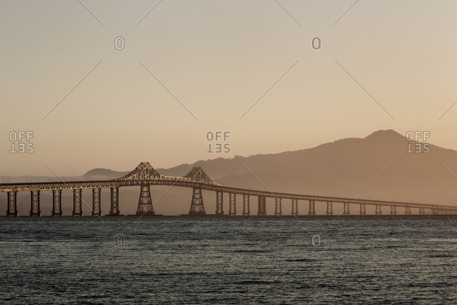 Richmond_San Raphael Bridge at Dusk