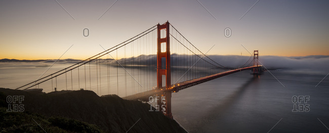 San Francisco Golden Gate Bridge at dawn