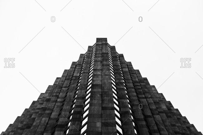 New York City, New York, USA - June 3, 2016: Exterior of the CBS Building also known as Black Rock