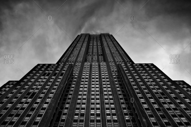 New York City, New York, USA - June 28, 2016: Exterior of the Empire State Building