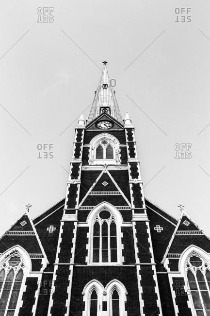 Steeple of Catholic church in Brooklyn, New York