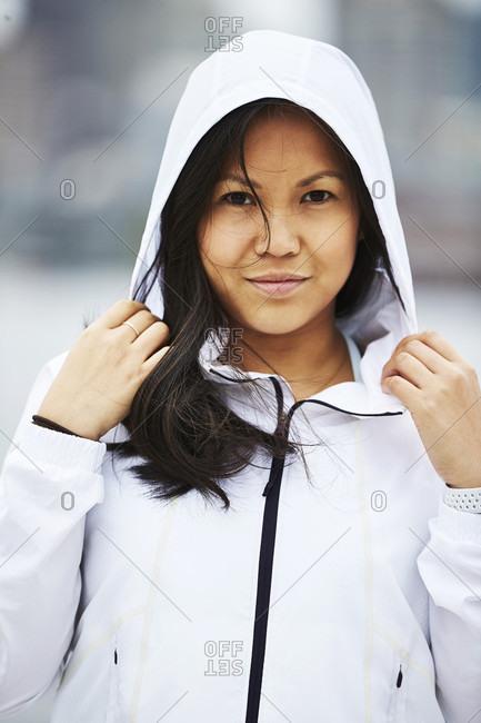 A portrait of an asian woman.
