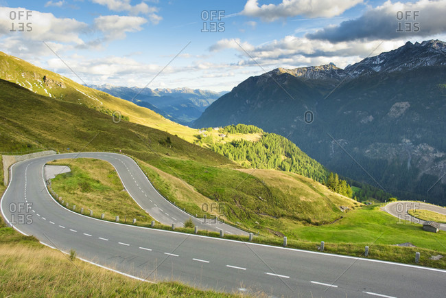 A winding section of the Grossglockner in Austria.