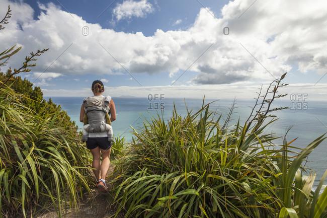 Hiking Mount Maunganui, Bay of Plenty, New Zealand