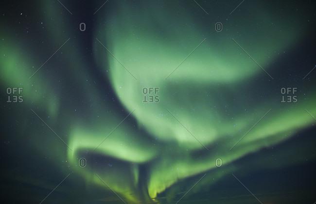 Northern Lights on sky in northern Alberta, Canada