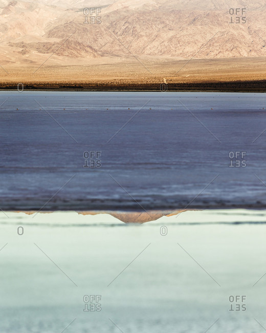 Natural scenery with lake, Saline Valley, Death Valley National Park, California, USA