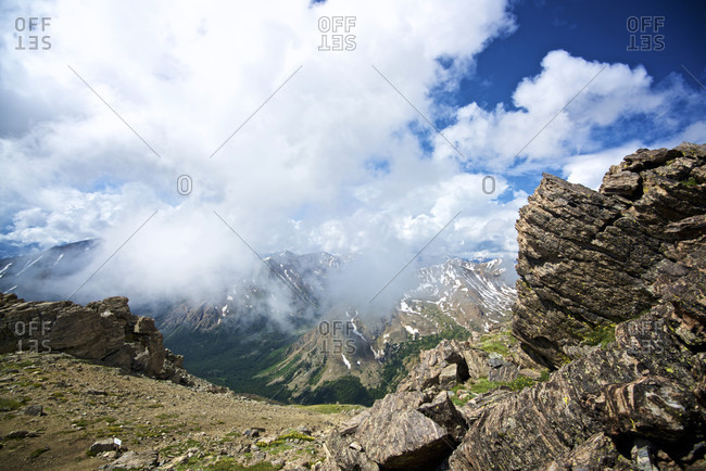 Majestic natural scenery of Colorado mountains seen from Mount Massive Trail, Leadville, Colorado, USA