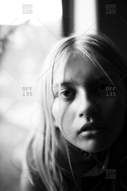 Moody portrait of young girl�