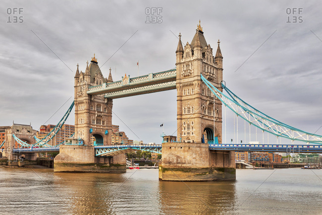 London, England, UK, Europe - June 7, 2017: Tower Bridge over river
