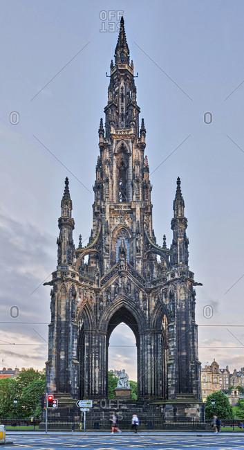 Walter Scott Statue into Scott Monument, Edinburgh, Scotland