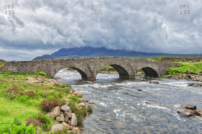 The historic bridge at Sligachan, Isle of Skye, Inner Hebrides, Scotland