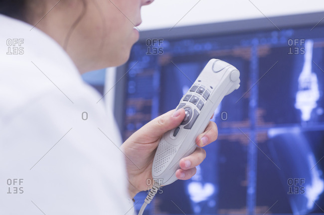 Radiologist recording results