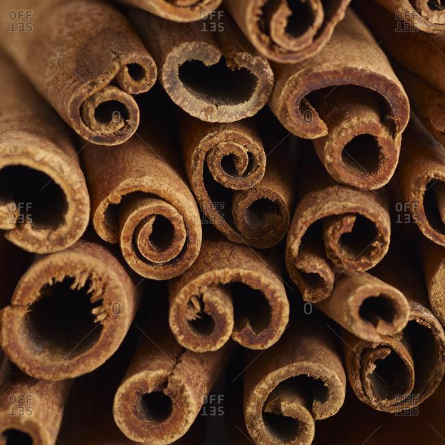 Cinnamon sticks in bundle