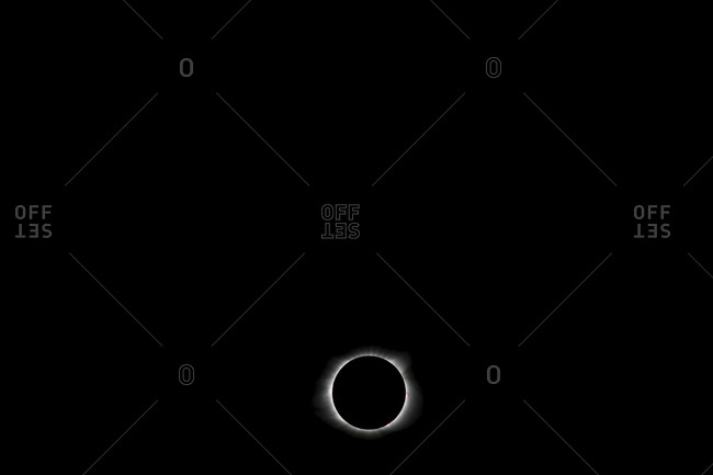Low angle view of solar eclipse against sky
